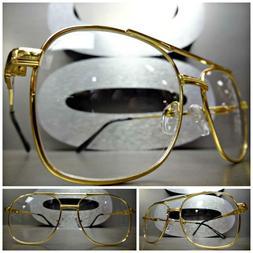 men vintage retro aviators style clear lens