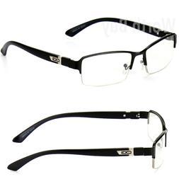 Men Women Clear Lens Half Rim Fashion Frame Eye Glasses Desi