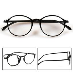 Men Women Round Reading Glasses Clear Lens Eyewear Eyeglasse