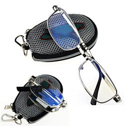Men Women Silver Folding Reading Glasses Eyeglasses Metal Fr