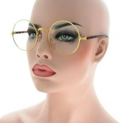 Mens Women CLASSIC VINTAGE Style Clear Lens EYE GLASSES Roun