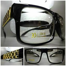 Mens Women VINTAGE STYLE Clear Lens EYE GLASSES Black Frame