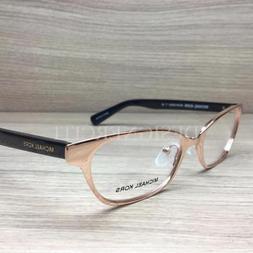 Michael Kors MK 3014 Sybil Eyeglasses Rose Gold Black 1152 A