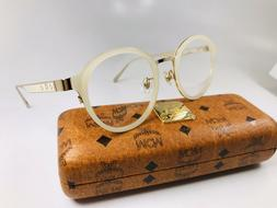 New MCM2115A 108 Round Ivory Eyeglasses 50mm with Case