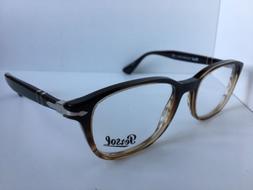New Persol 3163-V 1026 54mm Rx Black Brown Men's Eyeglasses