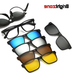 Brightzone New 5+1 Suit Fashion Clip On Yellow Sunglasses Wo