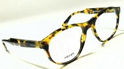 New Authentic PRADA PR12SV UBL-1O1 Yellow Havana 52/18/140 R
