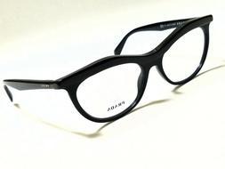 New Authentic PRADA PR23PV 1AB-1O1 Black 54/16/140 Rx Eyegla