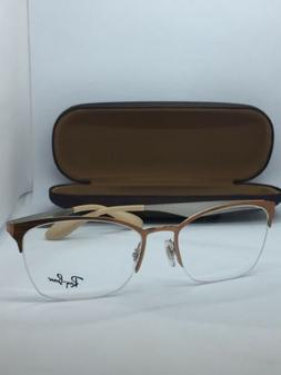 NEW AUTHENTIC RAY BAN EYEGLASSES RB 6345 2920 BRUSHED BROWN