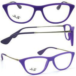 New Authentic RAY BAN RX7042 5470 Purple Cat Eye 52mm Eyegla