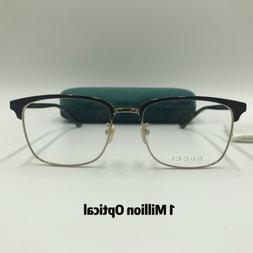 New Authentic GUCCI RX Eyeglasses GG0130O 005 55 Tortoise Co