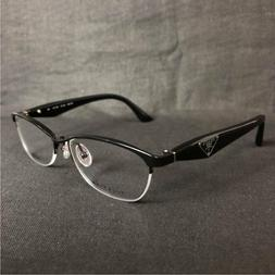 NEW PRADA CAT EYE TITANIUM EYEGLASSES VPR 59R 7AX1O1 54 BLAC