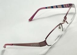 New BEBE Desire Pink Stripe Women's Eyeglasses Frames 53-18-