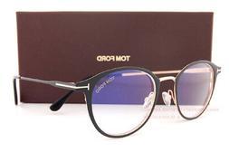 New Tom Ford Eyeglass Frames FT 5528-B/V 002 Matte Black For