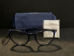 NEW! Gucci Eyeglasses GG0027O 005 Blue Round AUTHENTIC!