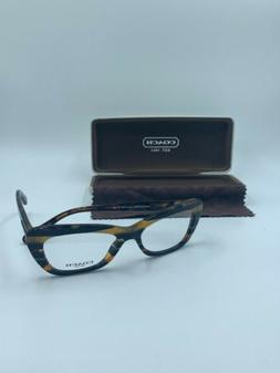NEW Coach Eyeglasses HC 6108 5440 Black Amber Glit Varsity F