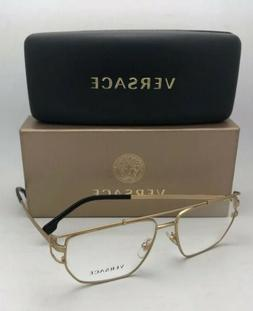 New VERSACE Eyeglasses MOD.1257 1410 55-15 140 Matte Gold &