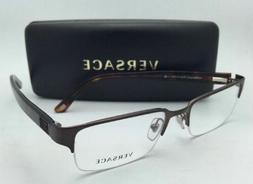 New VERSACE Eyeglasses VE 1184 1269 53-18 Semi-Rimless Brown