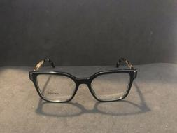 NEW Prada Eyeglasses VPR 05T-F 1AB-101 Black/Havana Large Sq
