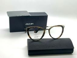 NEW Prada Eyeglasses VPR 61T VAX-1O1 Pale Gold Bordeaux Fram