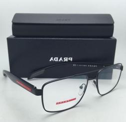 New PRADA Sport Eyeglasses VPS 56E 1BO-1O1 55-16 140 Aviator