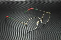 Gucci GG0396O 001 Gold Unisex Authentic Eyeglasses Frame 56-