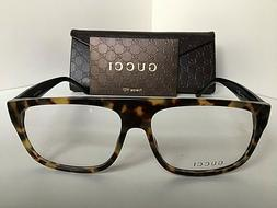 New GUCCI GG 1009/N GG1009 555 Tortoise 57mm Rx Men's Eyegla