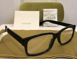 New GUCCI GG0012OA 004 Black Eyeglasses Frame W/ Gucci Web S