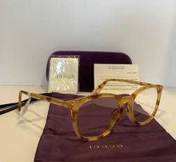 New GUCCI GG0155OA 003 Havana Round Eyeglasses Optical Frame