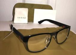 New GUCCI GG0175O 002 Men's Black Eyeglasses Frame W/ Gucc
