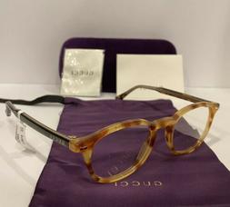 New GUCCI GG0187O 003 Havana & Gold Eyeglasses Optical Frame