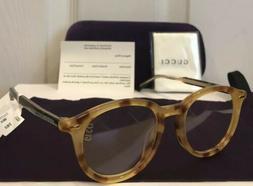 New GUCCI GG0192OA 003 Havana Eyeglasses Frame W/ Gucci Scri