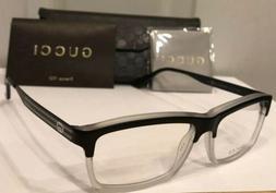 New GUCCI Men's Eyeglass Frames GG3517 Crystal Black W/Signa