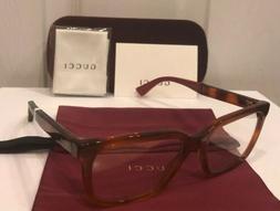New GUCCI Men's Eyeglasses Frames GG0160O Havana W/ Colored