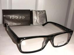 New GUCCI Men's Eyeglasses Frames GG1053 Snowy Black W/Signa