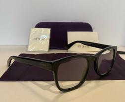 NEW GUCCI Mens GG0004O 001 Black Eyeglasses Optical Frames W