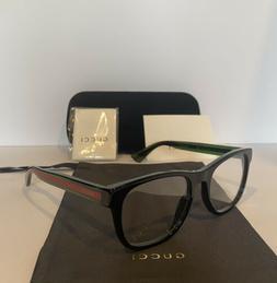 NEW GUCCI Mens GG0004O 002 Black Eyeglasses Optical Frames W