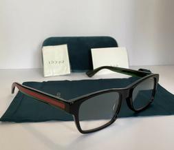 NEW GUCCI Mens GG0006OA 002 Black Eyeglasses Optical Frames