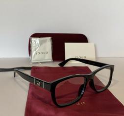 NEW GUCCI Mens GG0640OA 001 Black Eyeglasses Optical Frames