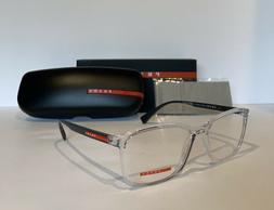 NEW! PRADA Men's VPS 041 Clear & Black Eyeglasses Optical