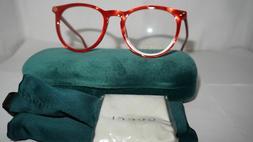 new rx frame glasses red gold gg0027o