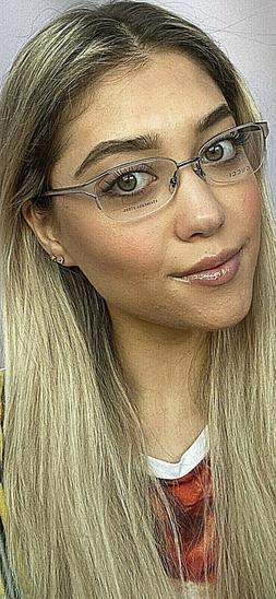 New GUCCI Semi-Rimless 52mm Rx Women's Eyeglasses Frame Ital