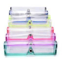New Stylish Clear Transparent PVC Soft Eye Glasses Protector