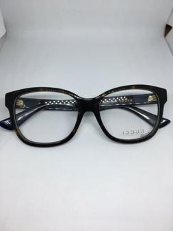 NEW Gucci Urban GG 0038O 003 Eyeglasses Ink Blue and Tortois