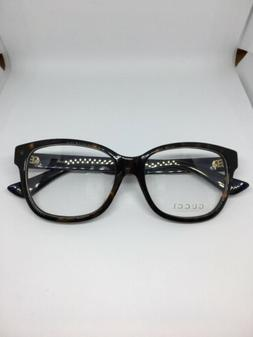 NEW Gucci Urban GG 0038O 003 Eyeglasses Tortoise 100% AUTHEN