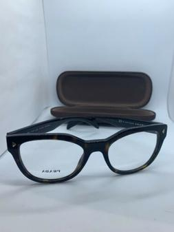NEW PRADA VPR 21S 2AU-1O1 TORTOISE EYEGLASSES AUTHENTIC ITAL