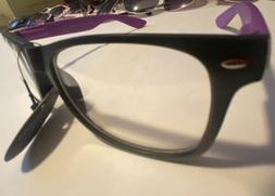 New WB Womens Square Clear Lens Frame Eye Glasses Fashion De