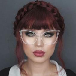 "Oversized Cat Eye "" Miss FEARLESS"" Thick Frame Women Eyeglas"