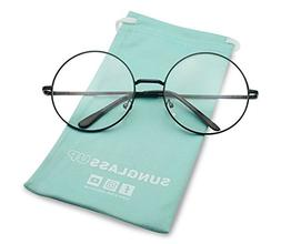 Oversized Large Clear Lens Retro Round Circle Glasses Eyegla
