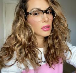 OVERSIZED XL SQUARE Vintage Retro SONIA Women Eyeglasses SHA